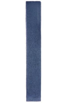 Cravate en maille, en coton et viscose: «Tie 6cm knitted», Bleu vif