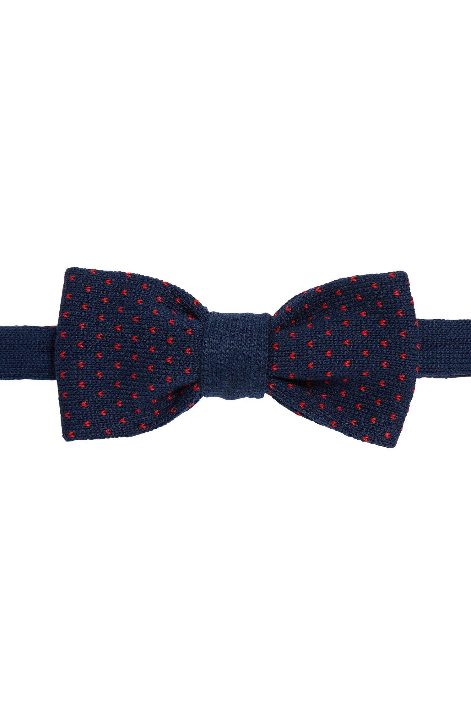 Pajarita de punto con estampado en algodón: 'Bow tie knitted'