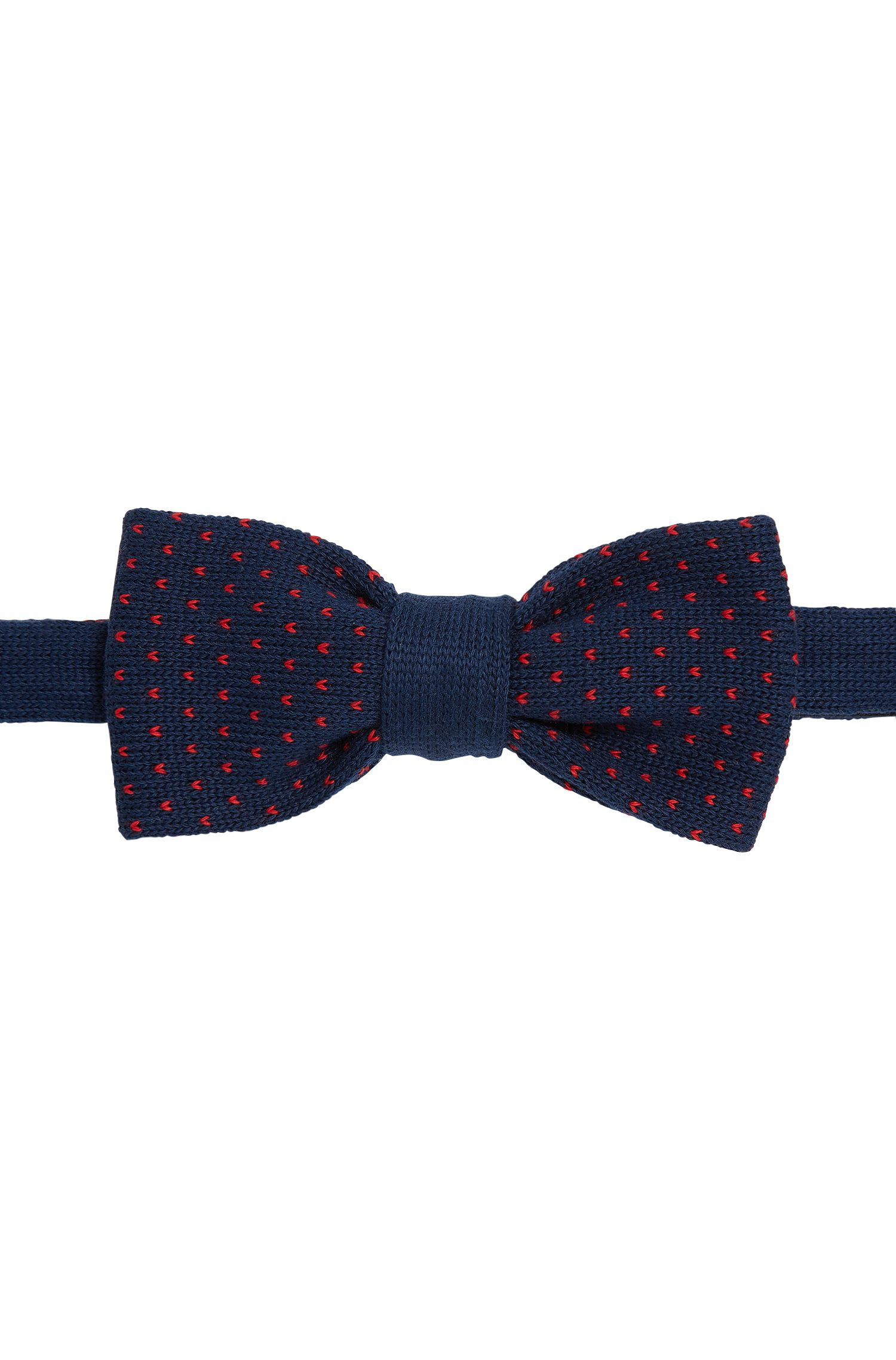 Patterned knitted bow-tie in cotton: 'Bow tie knitted'