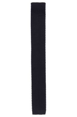 Knit tie in viscose: 'Tie 5 cm knitted', Dark Blue