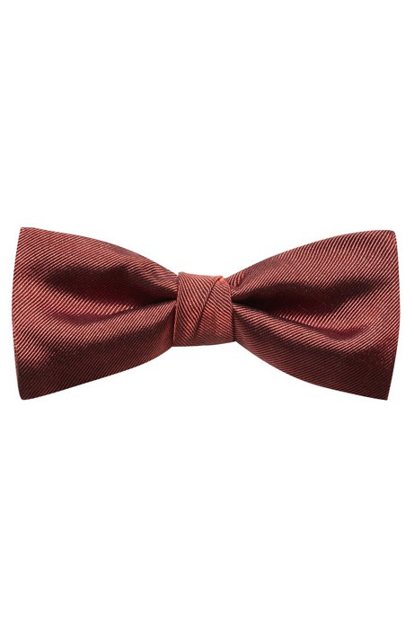 Silk bow tie with twill structure, Brown