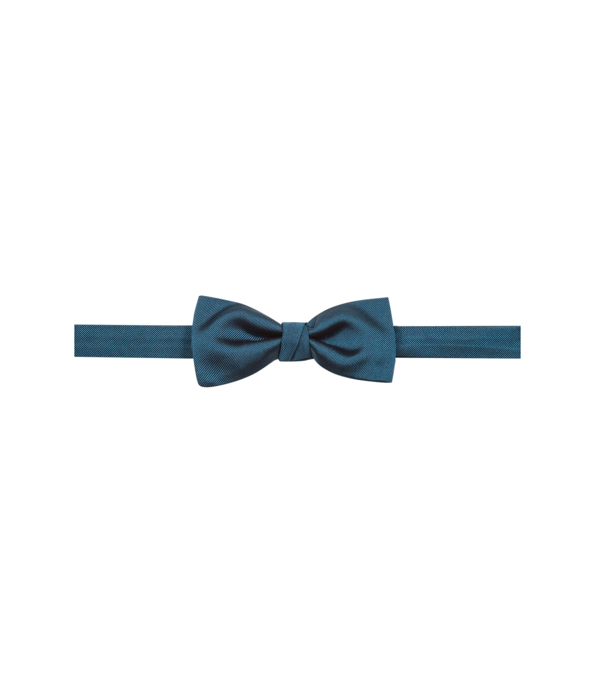 Silk bow tie with twill structure, Dark Green