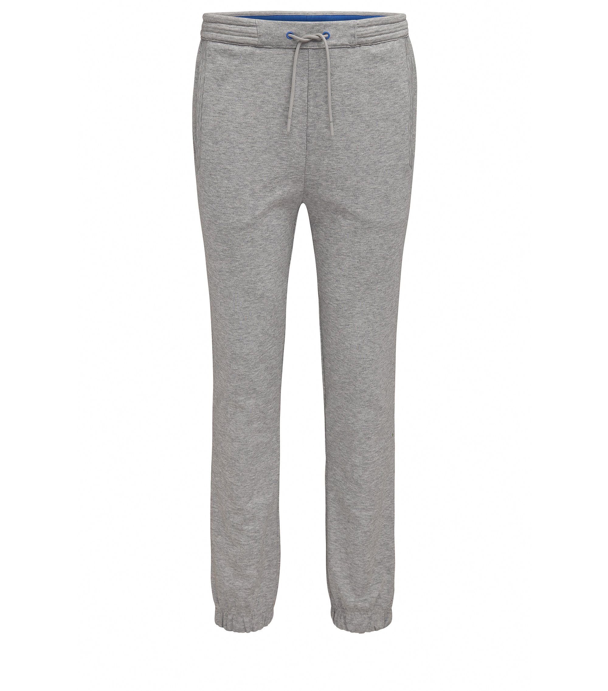 Pantalon de jogging Regular Fit en coton mélangé, Gris chiné