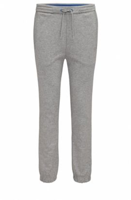 Regular-fit jogging trousers in cotton blend, Light Grey