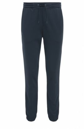 Regular-fit jogging trousers in cotton blend, Dark Blue