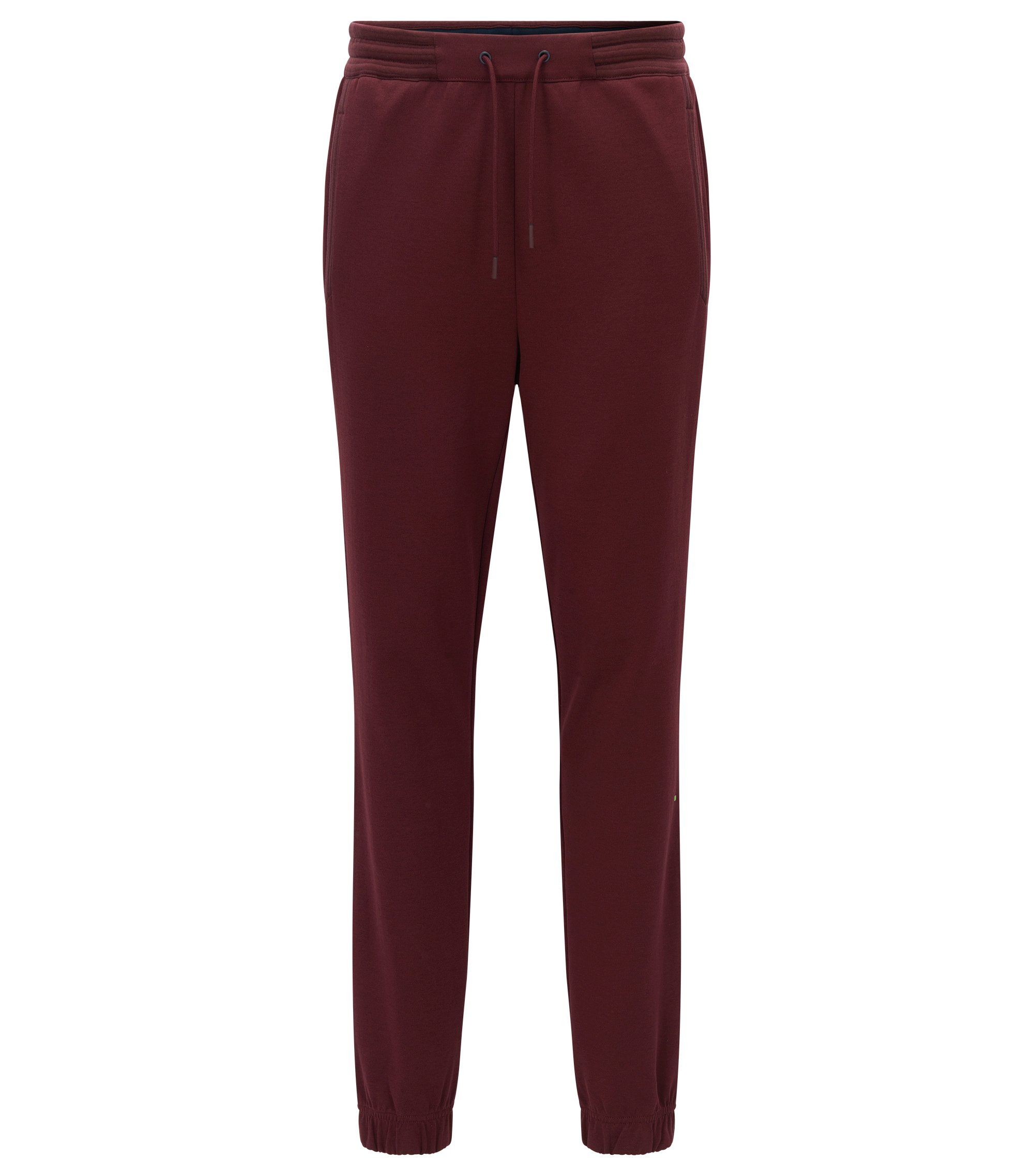 Pantaloni da jogging regular fit in misto cotone, Rosso scuro