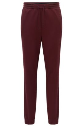 Pantalon de jogging Regular Fit en coton mélangé, Rouge sombre