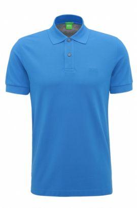 Regular-Fit Poloshirt aus Baumwoll-Piqué, Hellblau