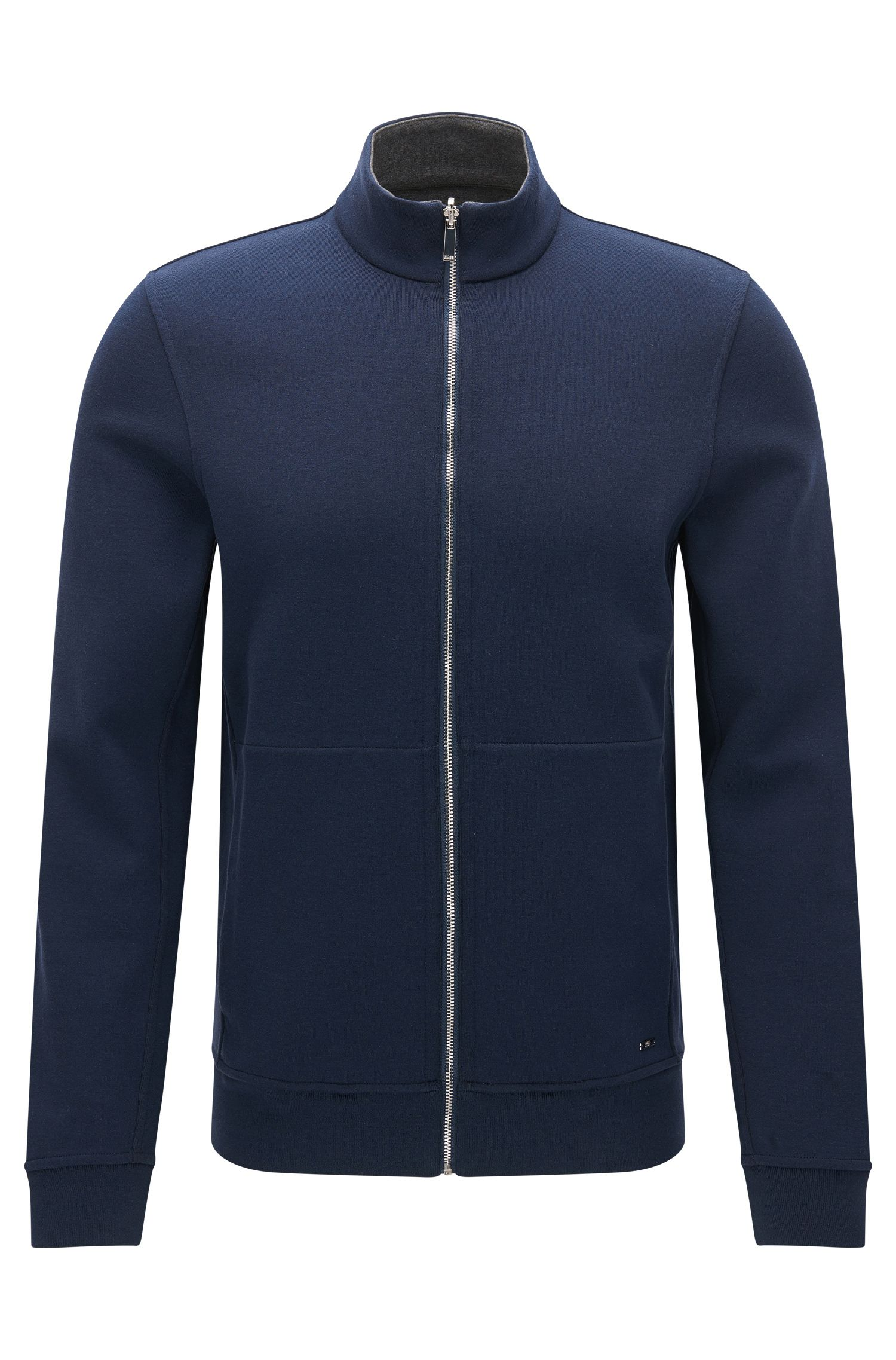 Regular-fit reversible sweatshirt jacket