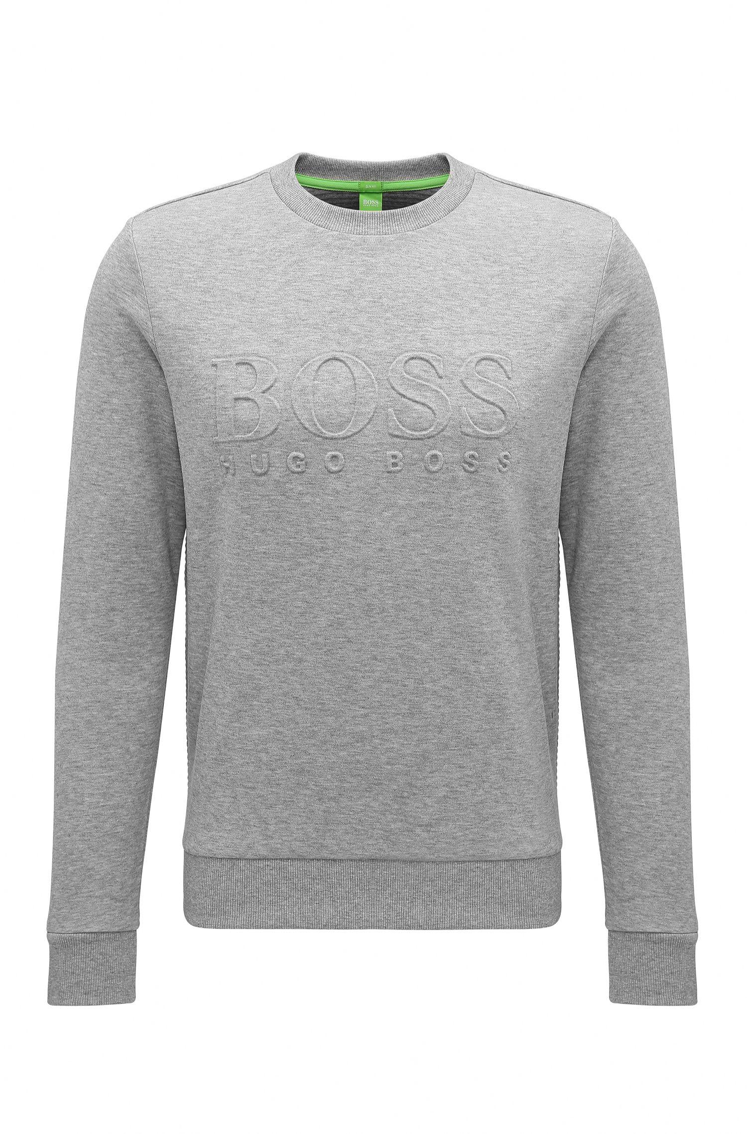 Slim-Fit Sweatshirt aus Baumwoll-Mix mit Logo-Prägung