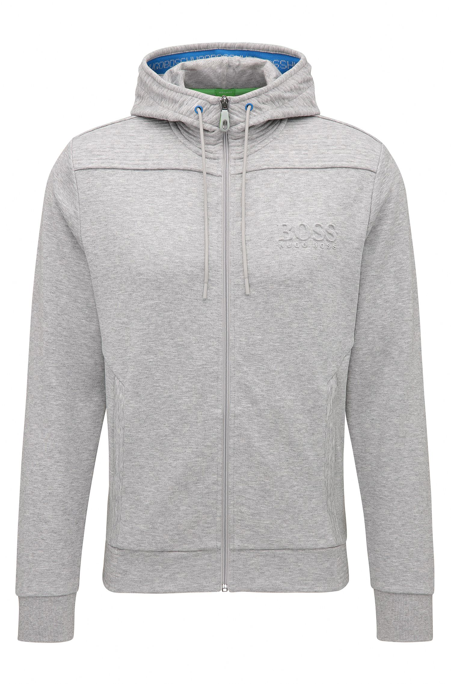 Regular-Fit Kapuzen-Sweatshirt aus Baumwoll-Mix