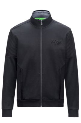 Regular-fit sweatshirt in double-face fabric, Black