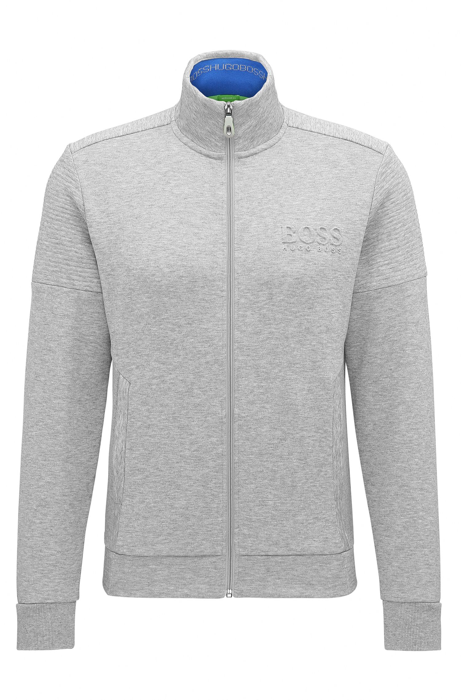 Sweat zippé Regular Fit en tissu double face
