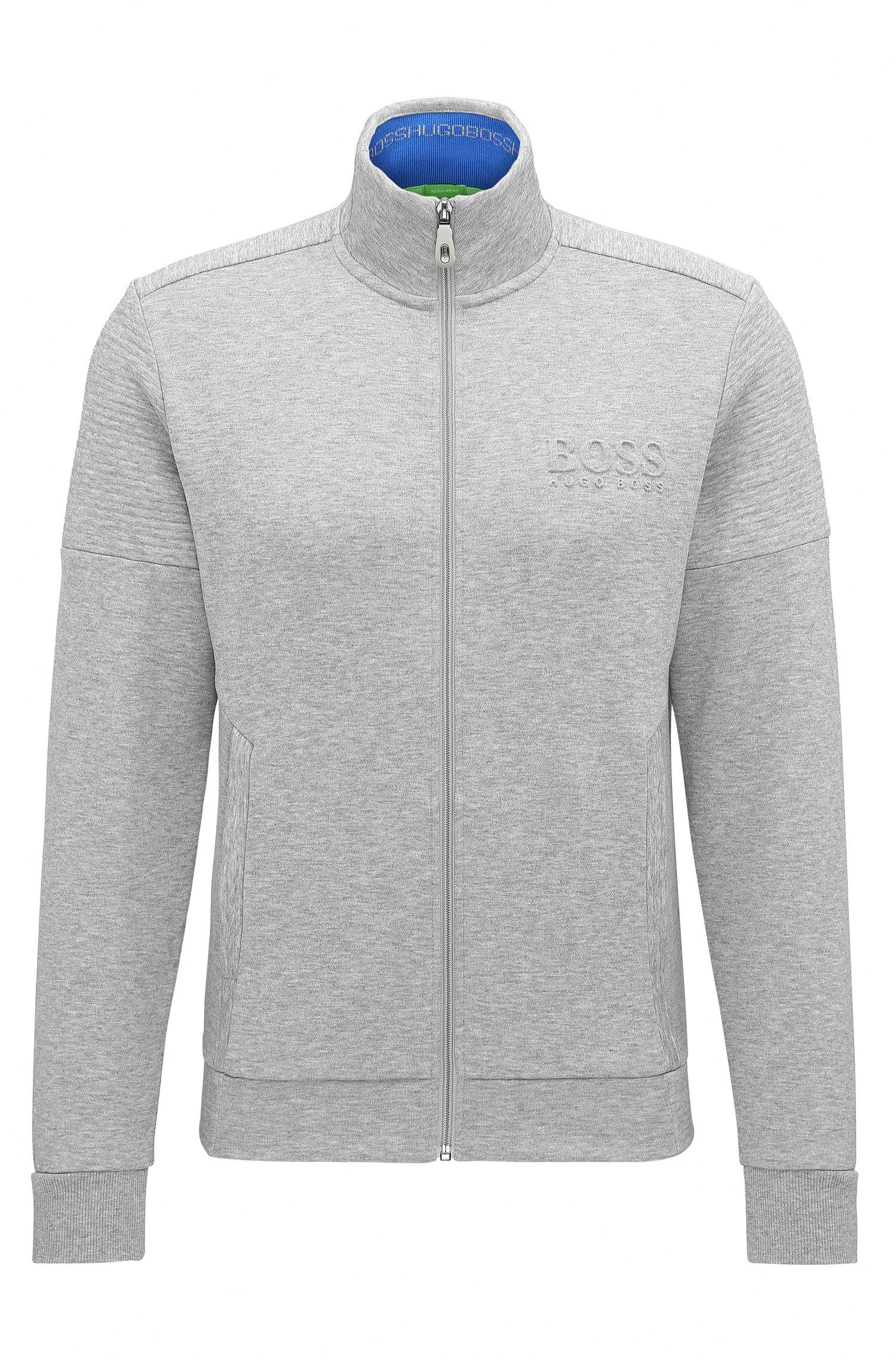 Regular-fit sweatshirt van tweezijdige stof