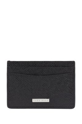 Signature Collection money clip in palmellato leather, Black