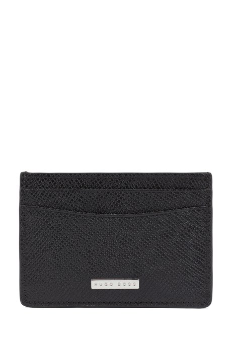 Signature Collection money clip in palmellato leather, Black