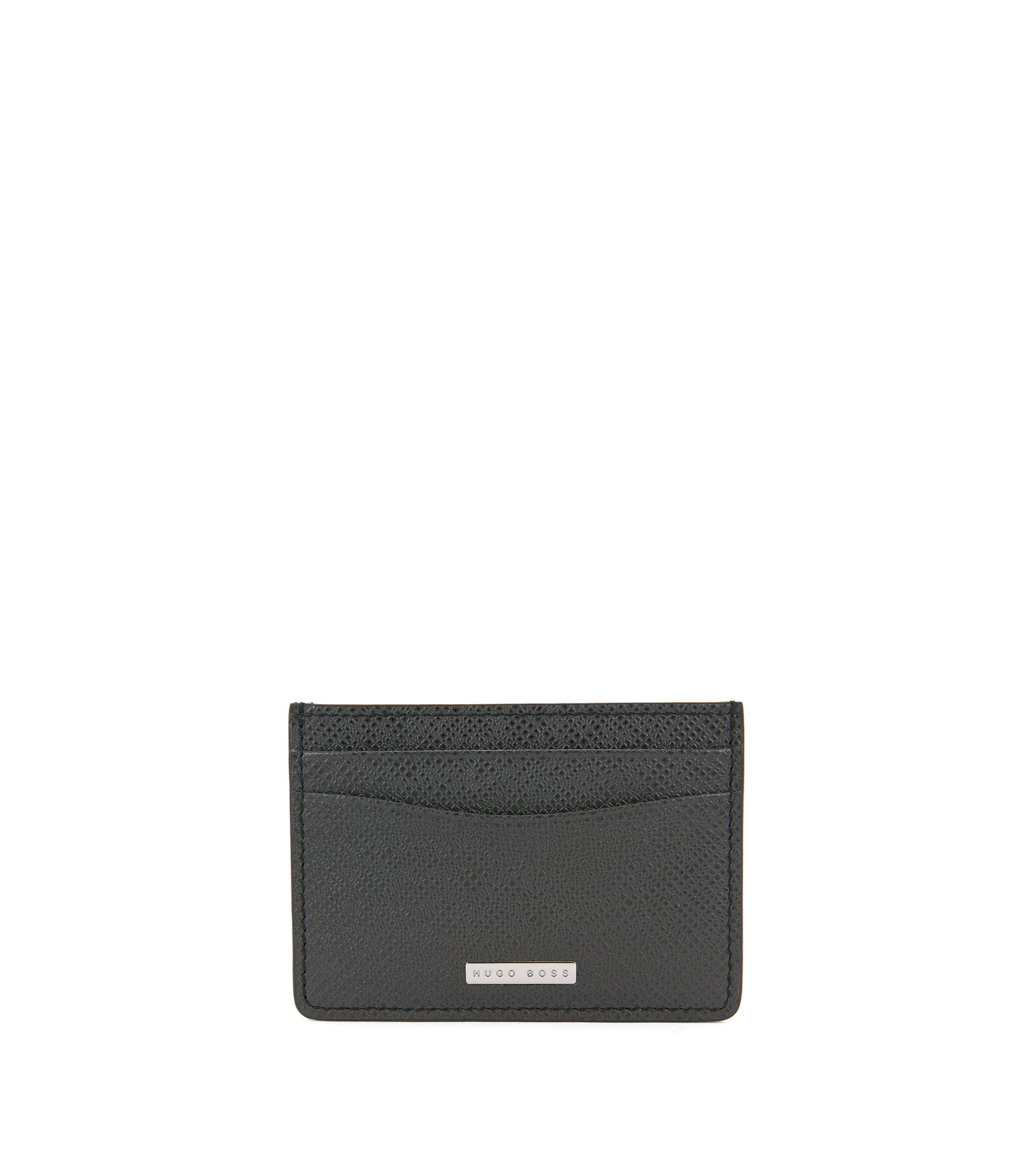 Signature Collection money clip in palmellato leather, Dark Grey