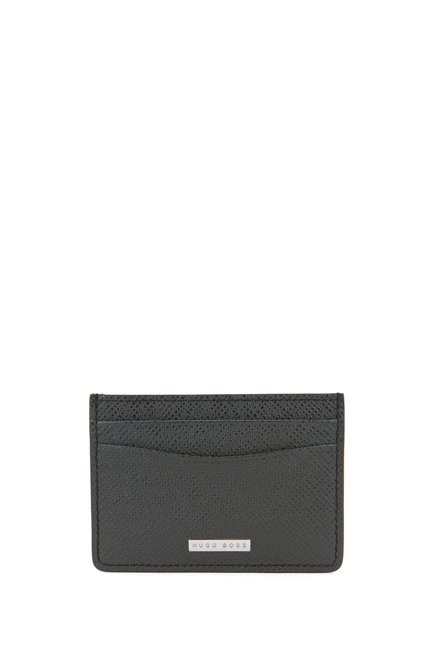 Porte-cartes à clip de la collection Signature en cuir palmellato