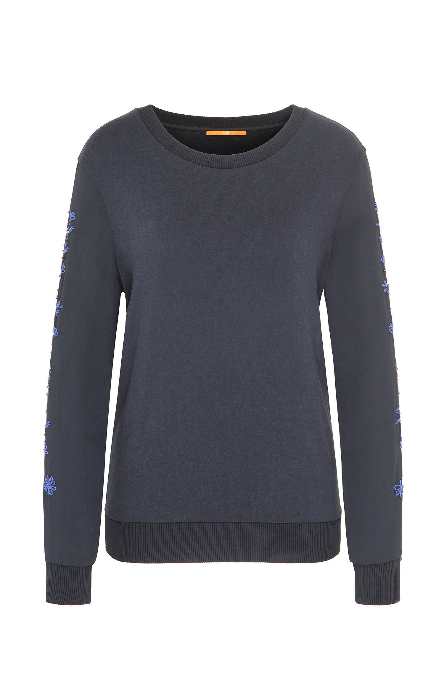 Regular-Fit Pullover aus elastischem French Terry