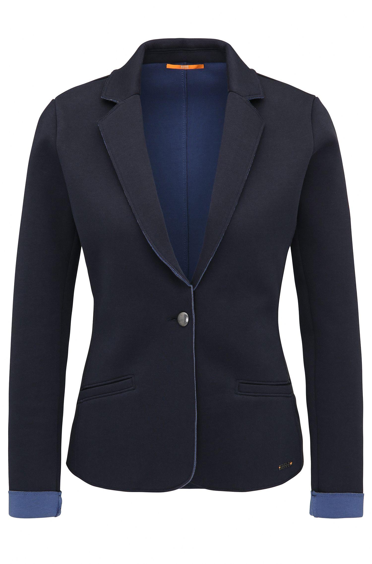 Veste Slim Fit en jersey simple thermocollé