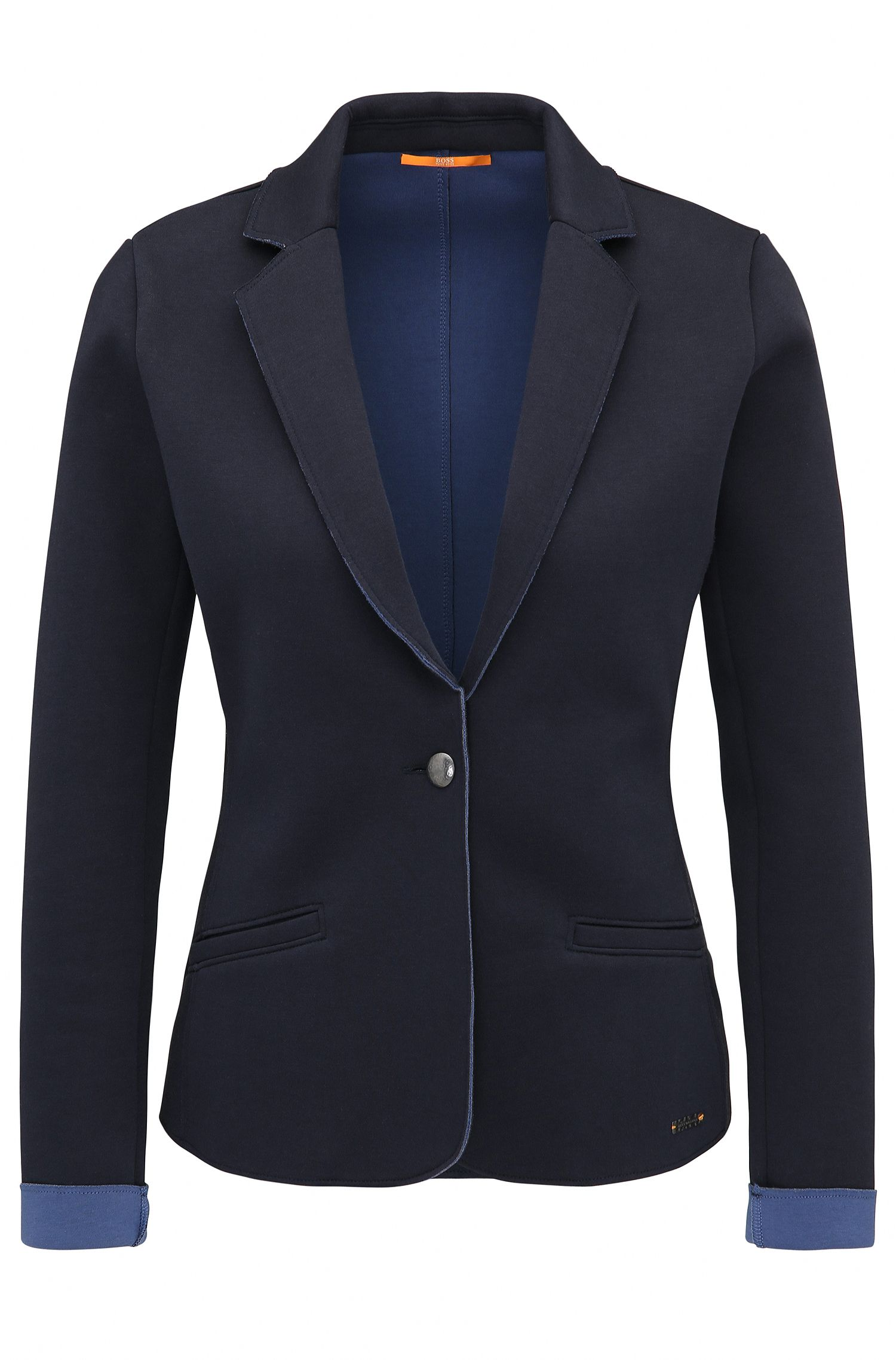 Slim-fit jacket in bonded single jersey