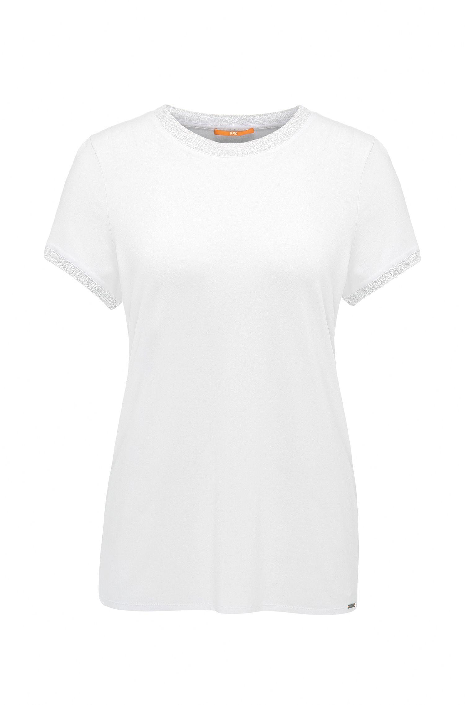T-shirt regular fit in jersey singolo elasticizzato