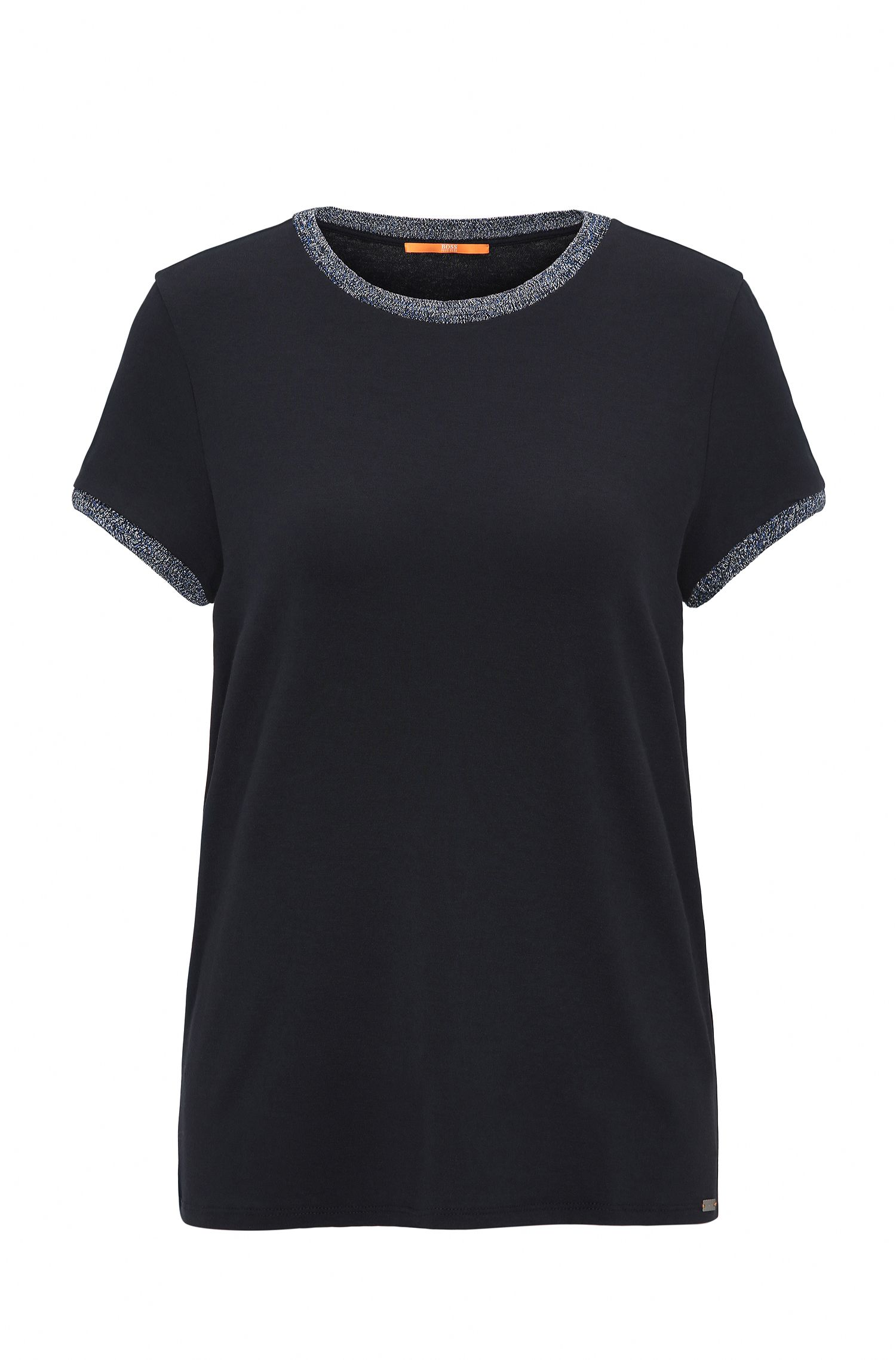 Regular-fit T-shirt van single jersey met stretch