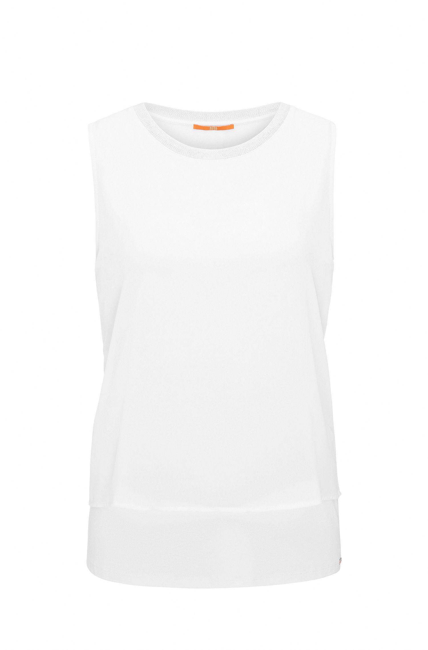 Mouwloze regular-fit top van jersey met stretch