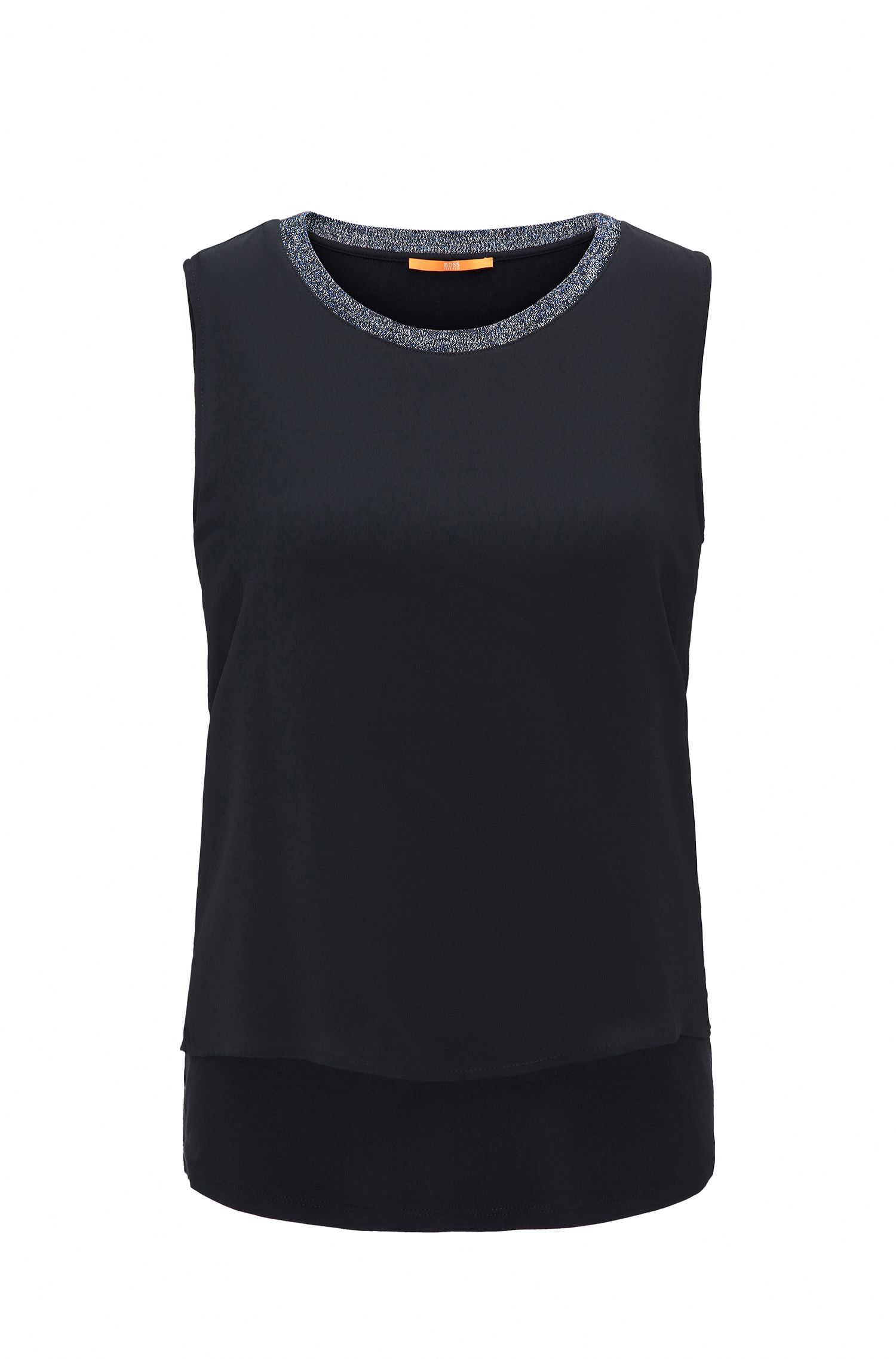 Ärmelloses Regular-Fit Top aus Stretch-Jersey