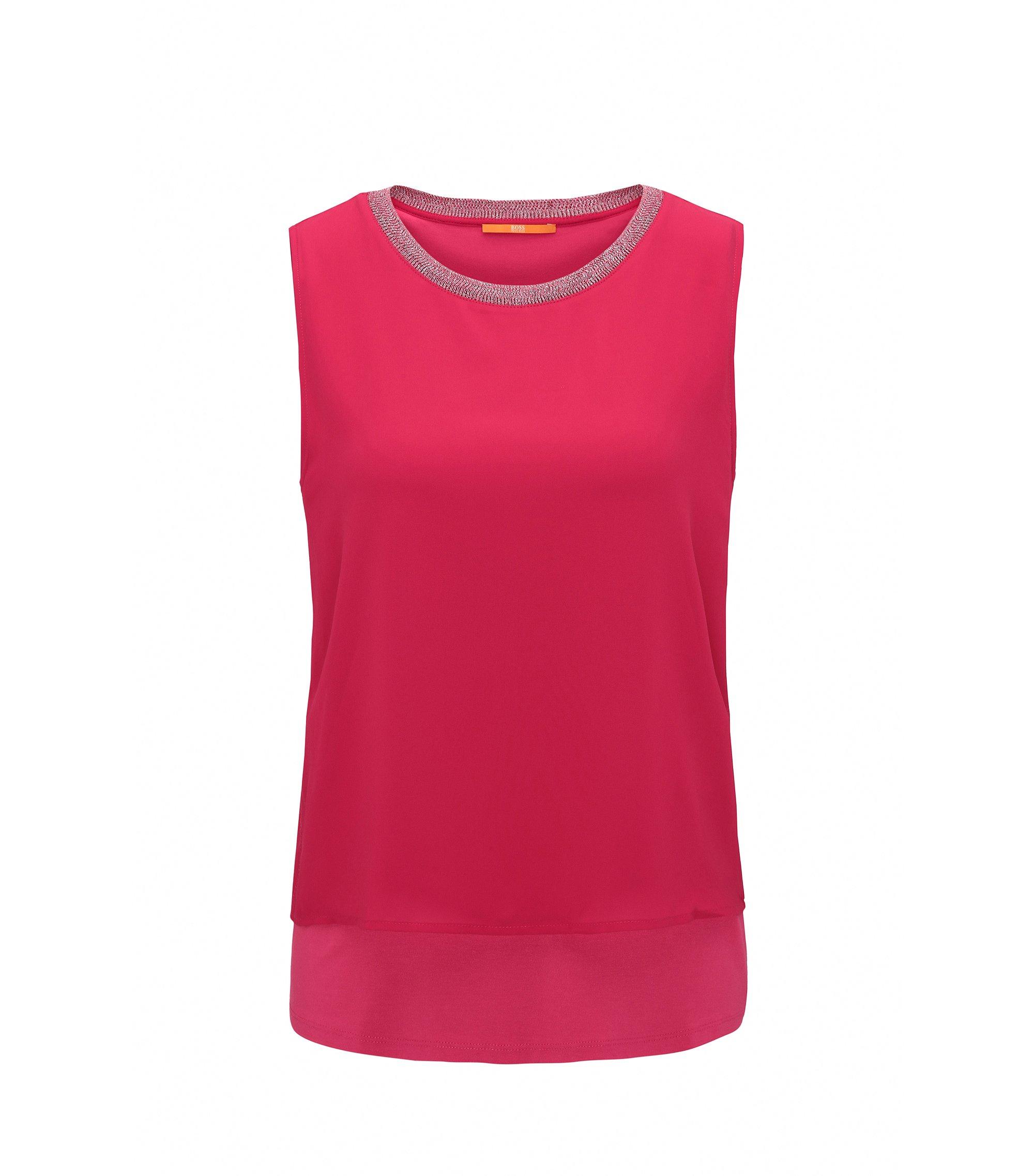 Top senza maniche regular fit in jersey elasticizzato, Rosa