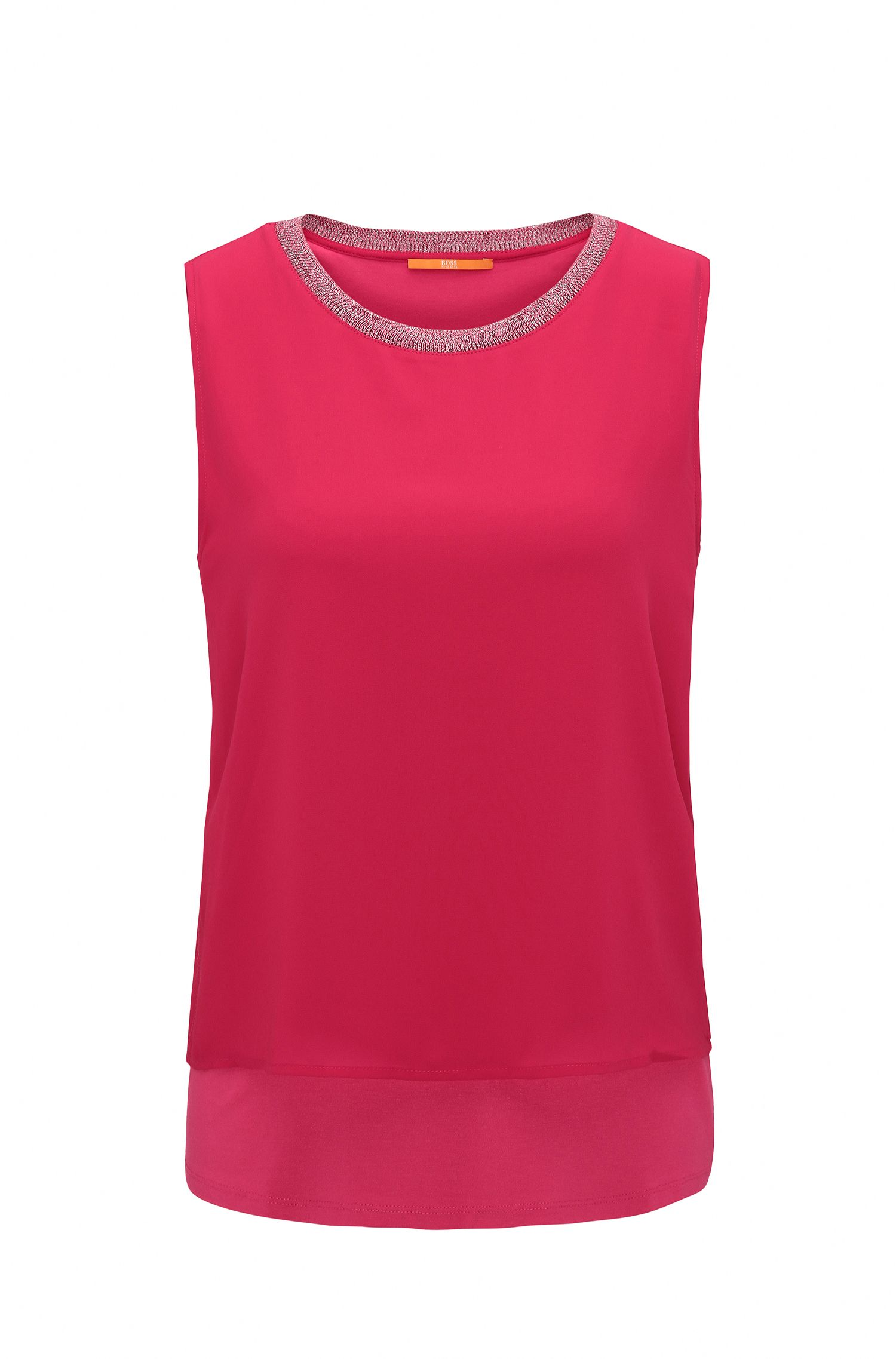 Top senza maniche regular fit in jersey elasticizzato