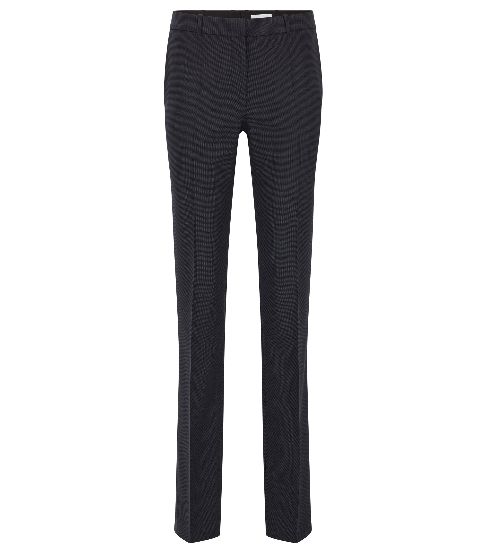 Pantalon Regular Fit en laine vierge stretch, Fantaisie