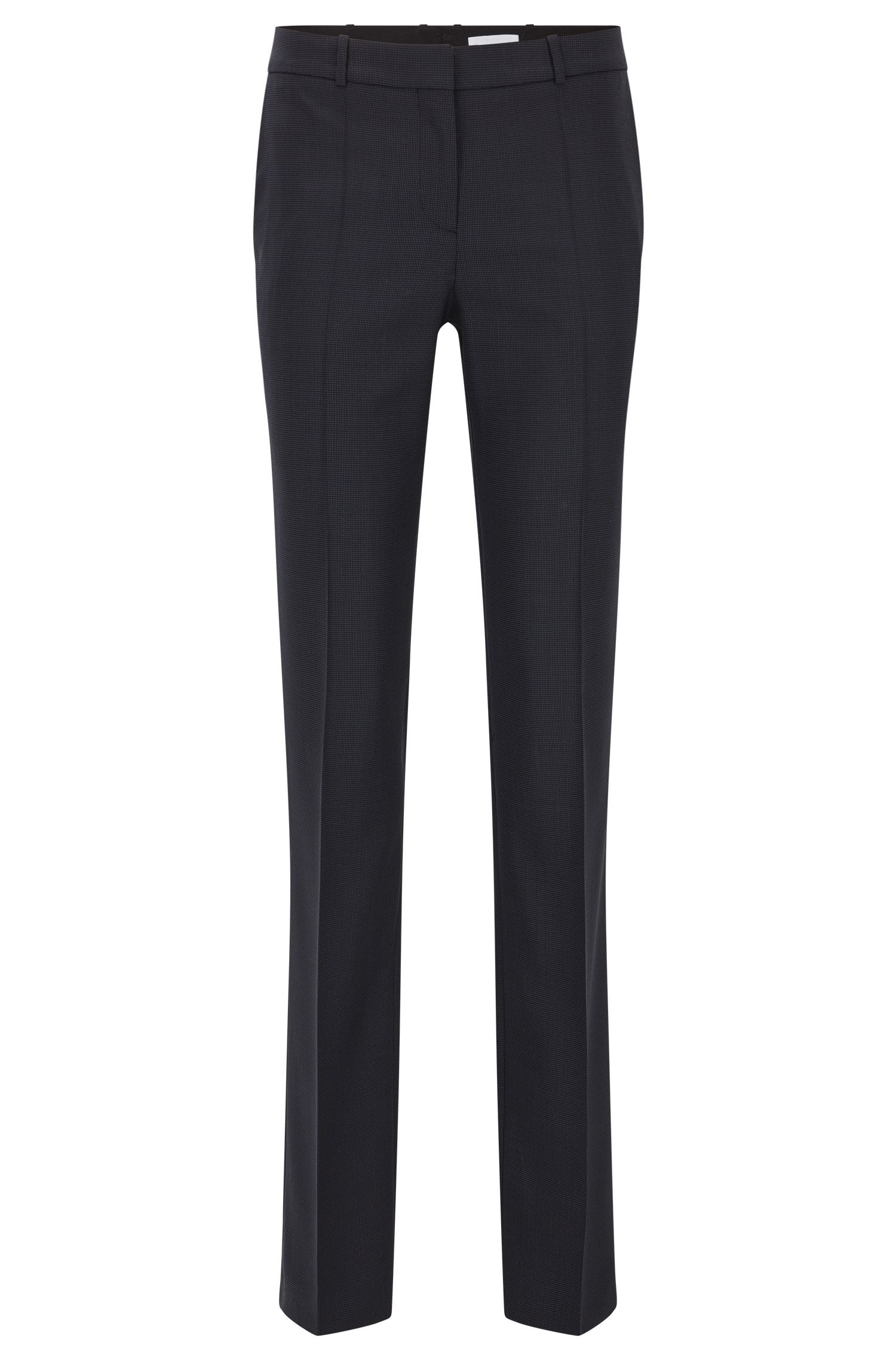 Regular-fit broek van elastische scheerwol