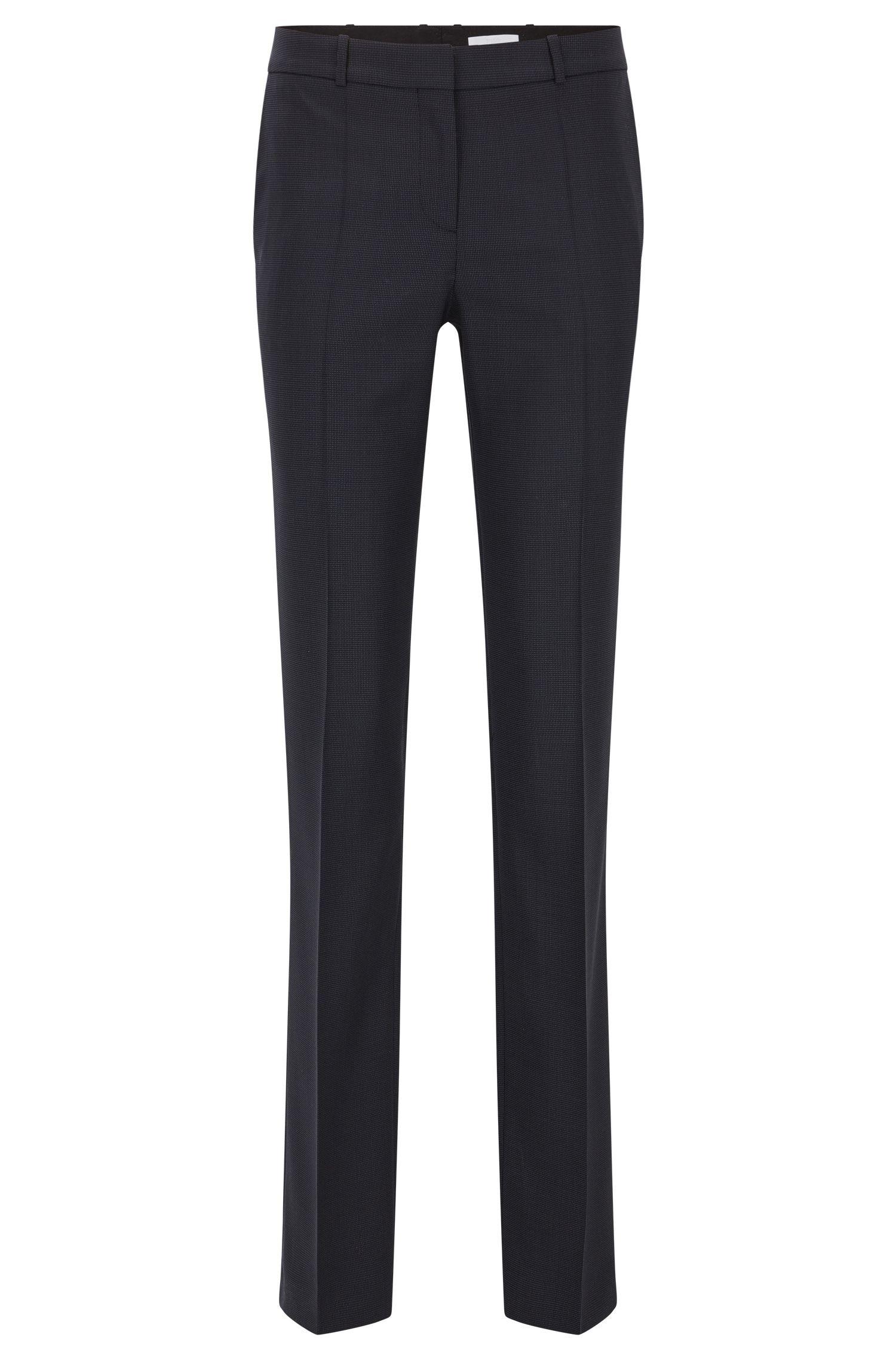 Pantaloni regular fit in lana vergine elasticizzata