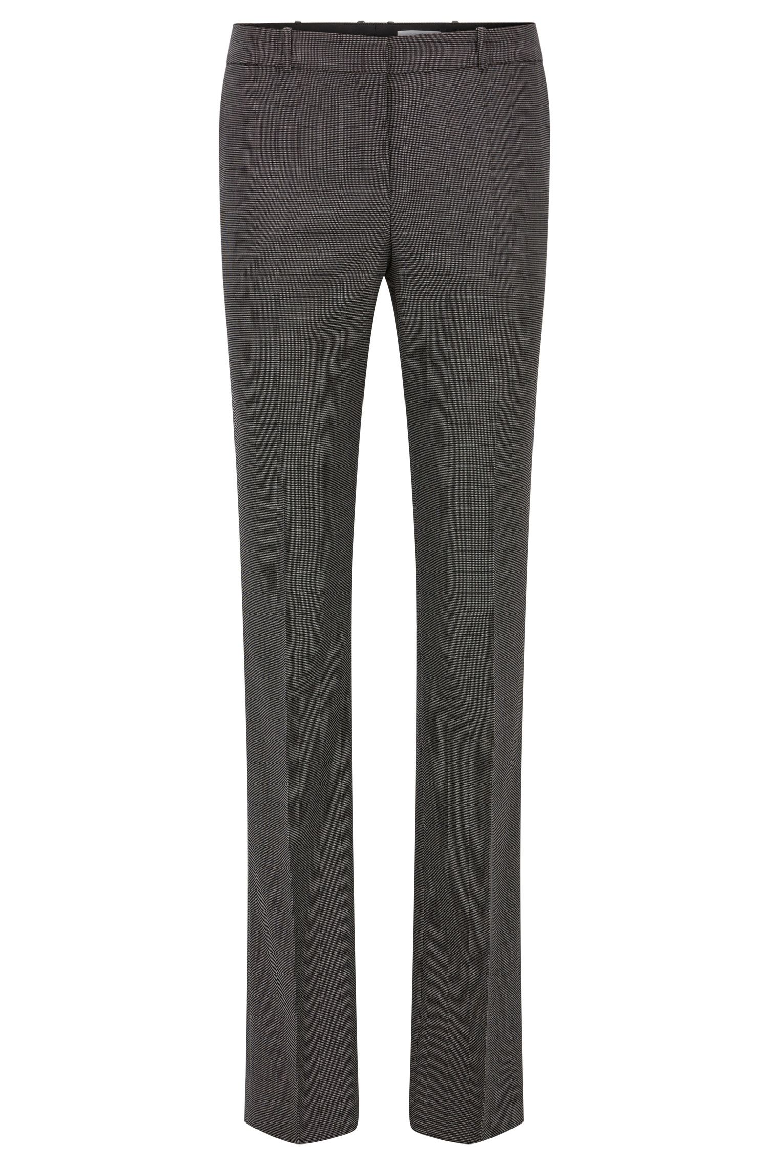 Regular-Fit Hose aus elastischem Schurwoll-Mix