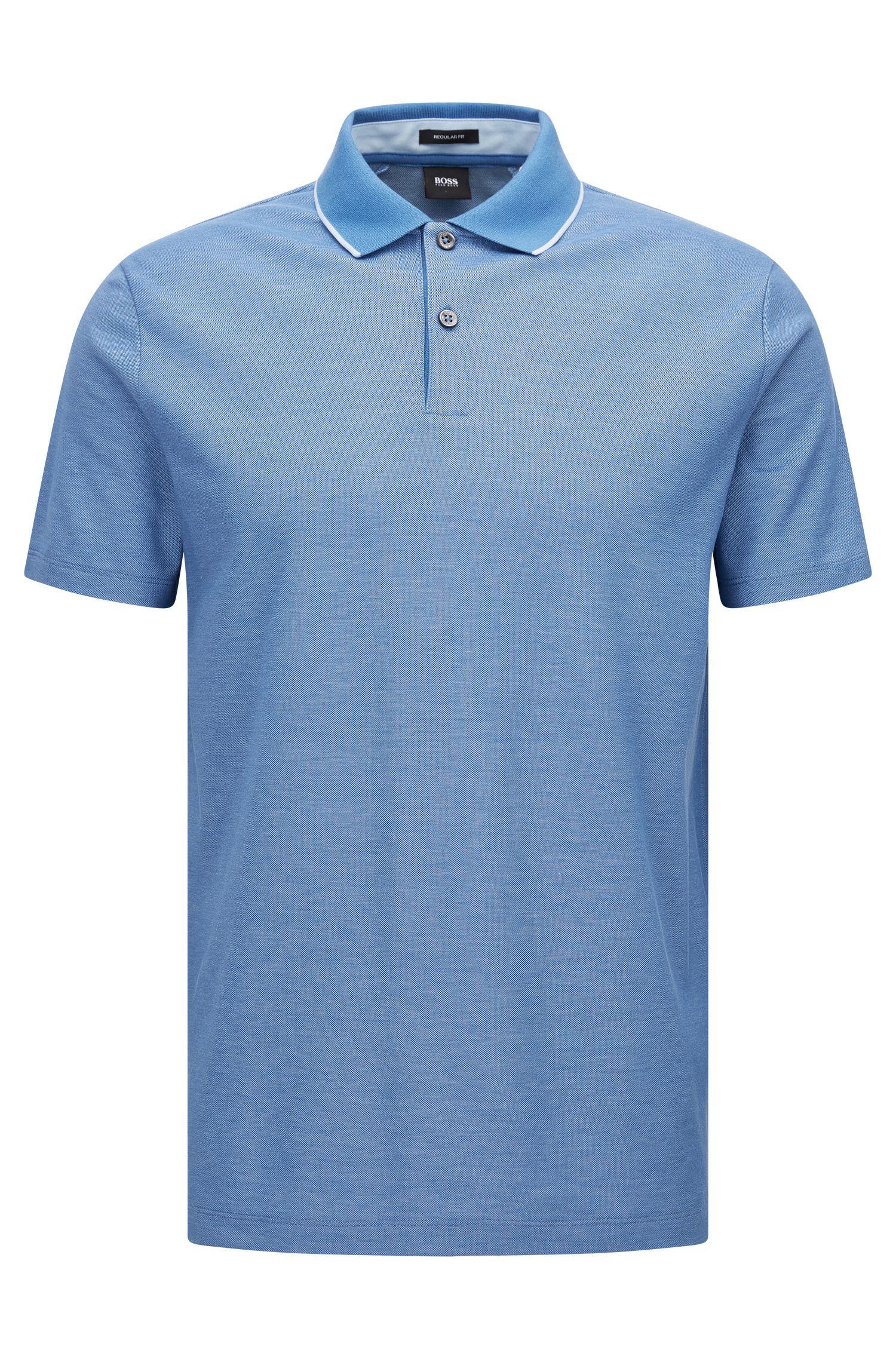 Polo Regular Fit en coton bicolore