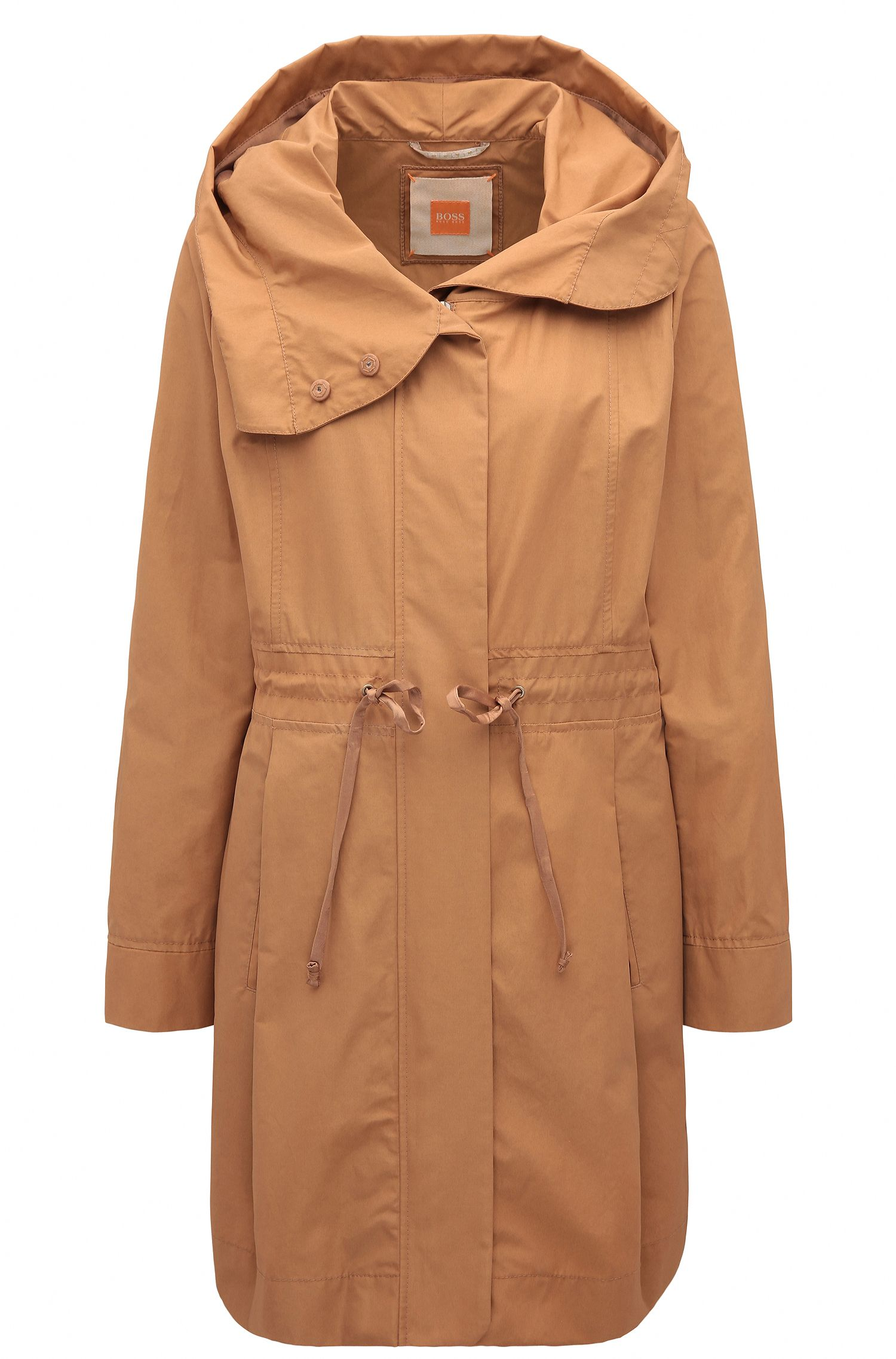 Regular-fit cotton blend parka jacket