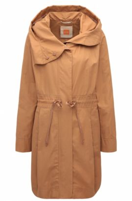 Parka regular fit in misto cotone, Marrone chiaro