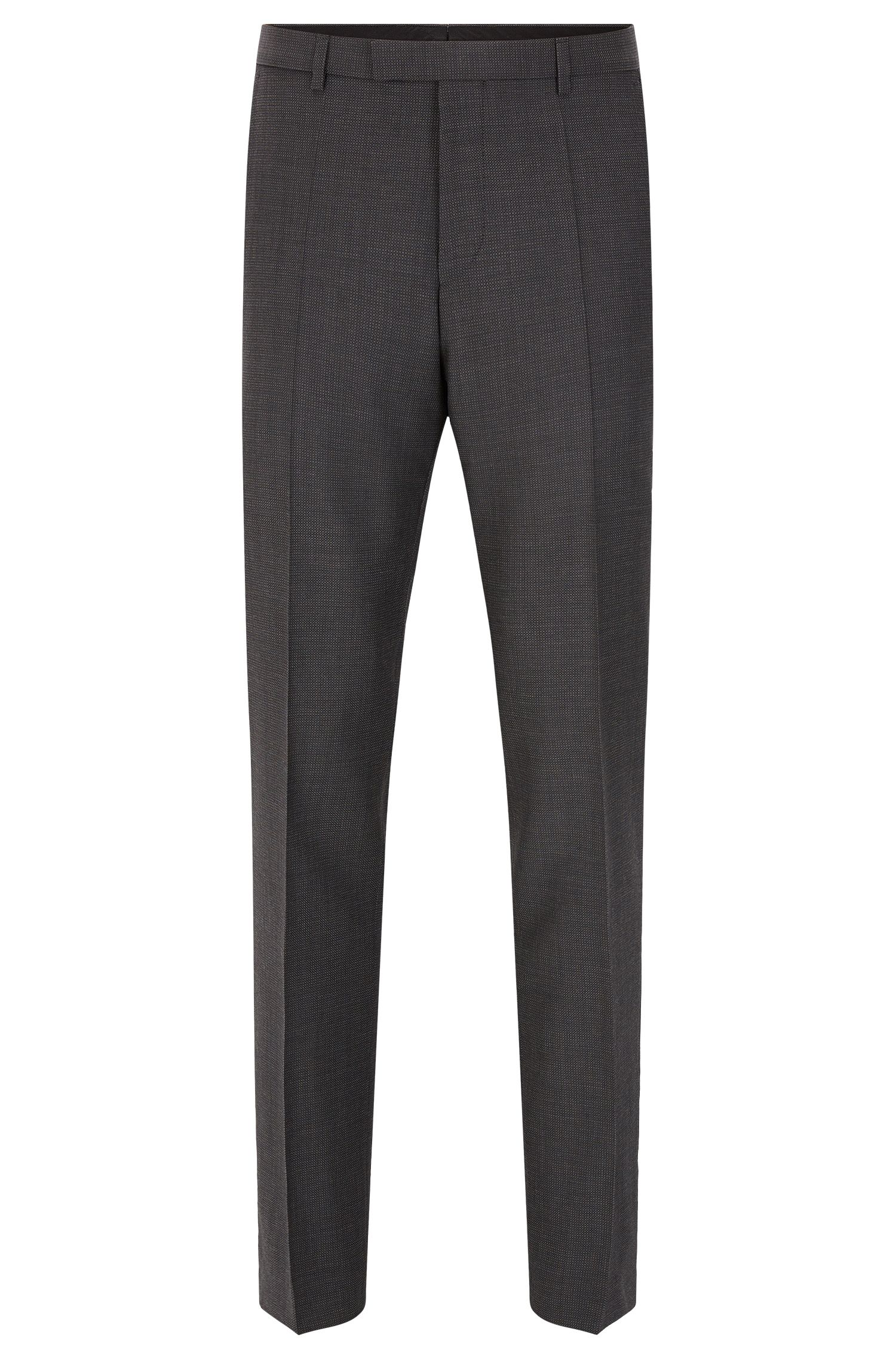 Finely patterned regular-fit trousers in new wool: 'C-Sharp1'