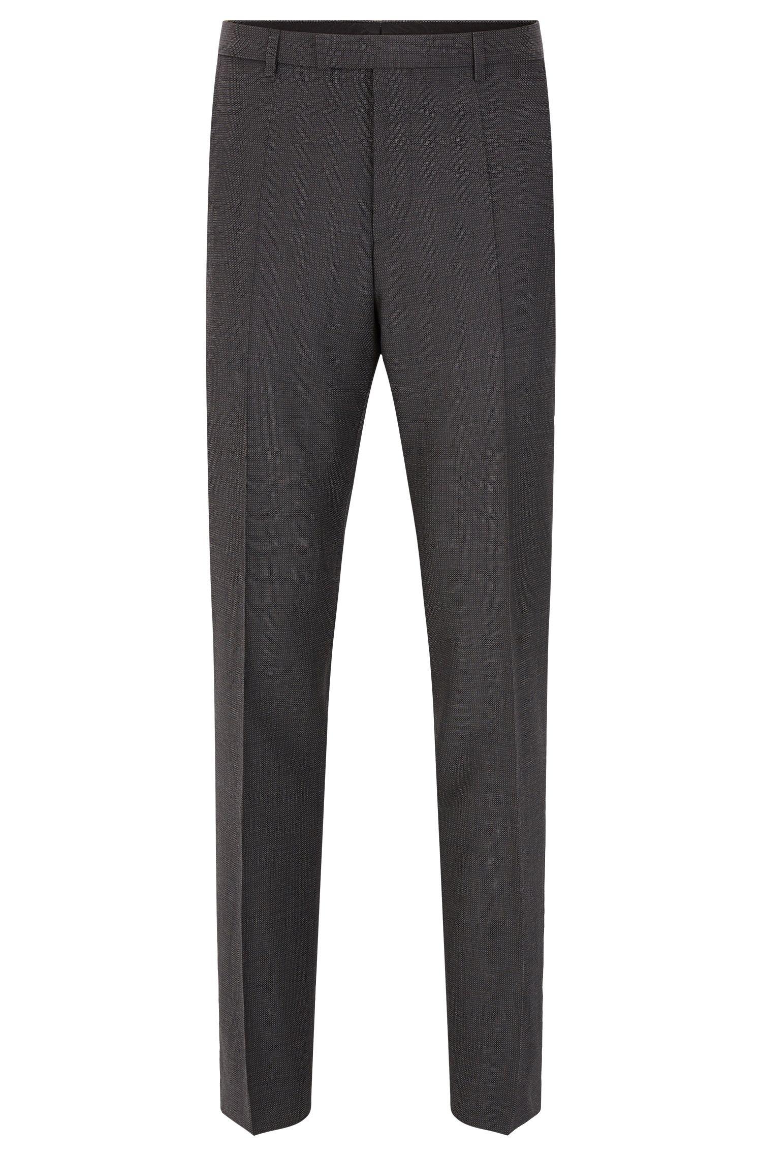 Fein gemusterte Regular-Fit Hose aus Schurwolle: 'C-Sharp1'