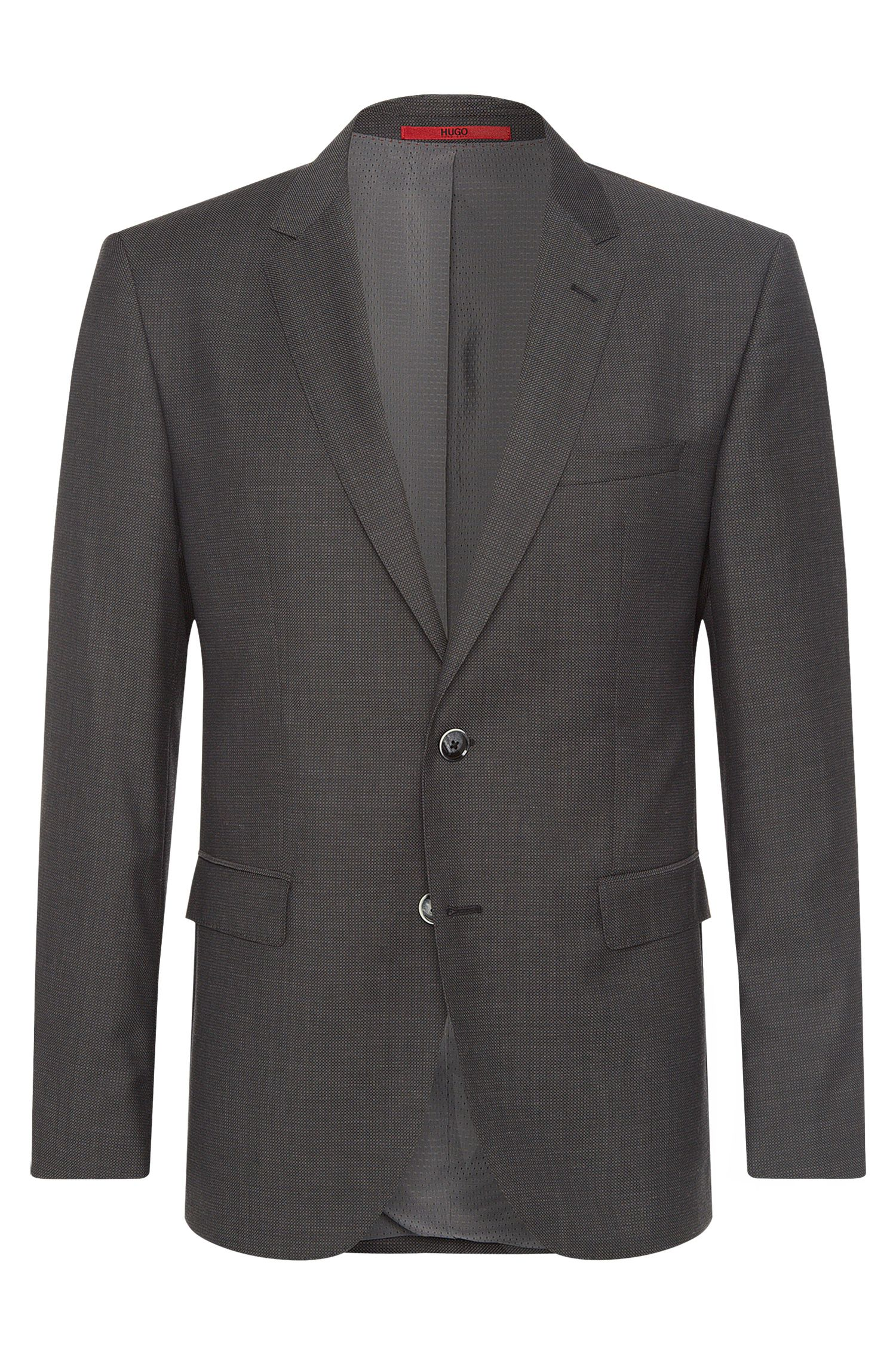 Giacca regular fit a quadri sottili in lana vergine: 'C-Jeys1'
