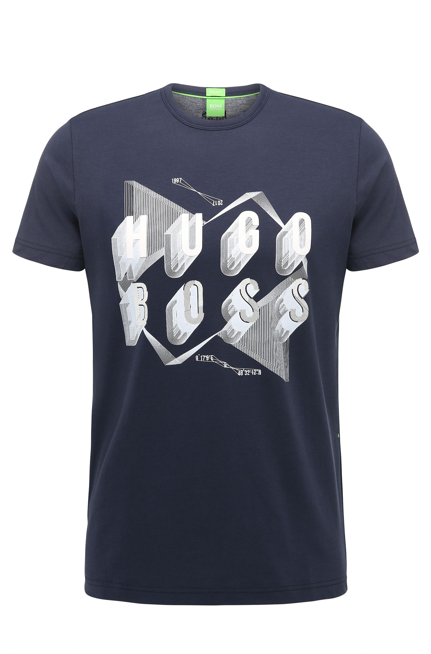T-shirt Regular Fit en coton orné d'un motif arty