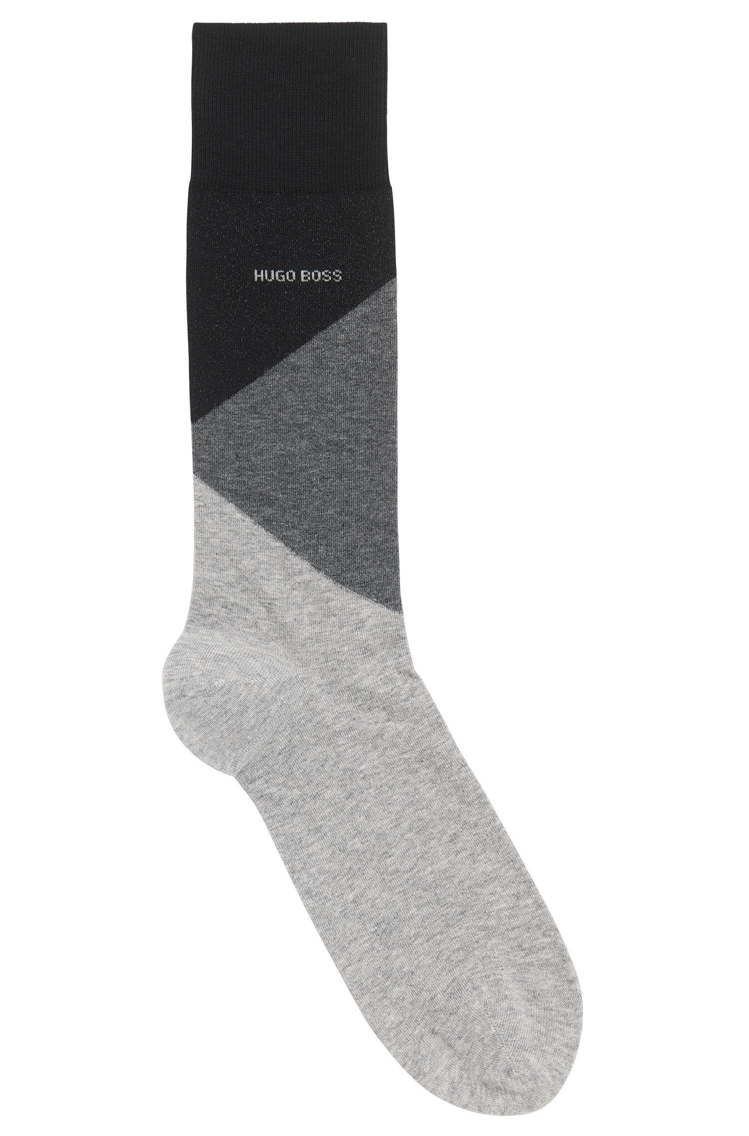 Sokken met colourblocking, van een mix met gekamde katoen