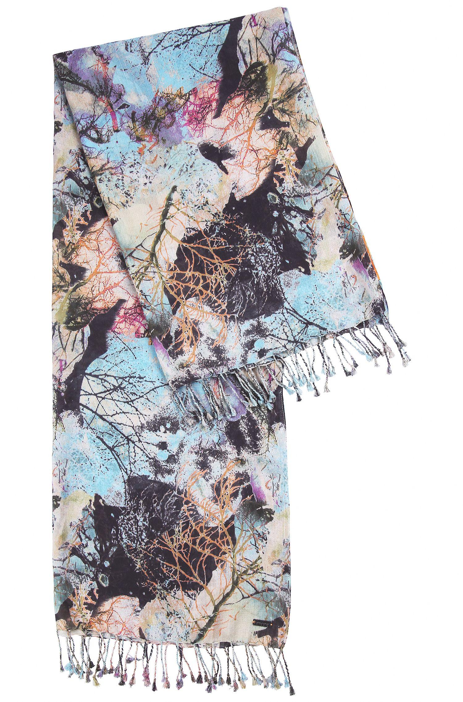 Leichter Schal aus Baumwoll-Mix