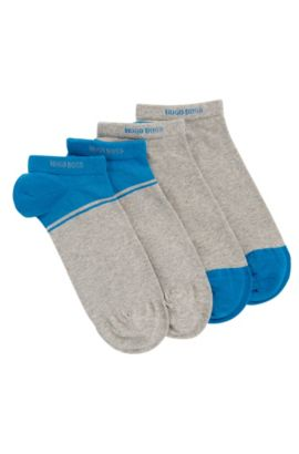 Two-pack of ankle socks with combed cotton, Silver