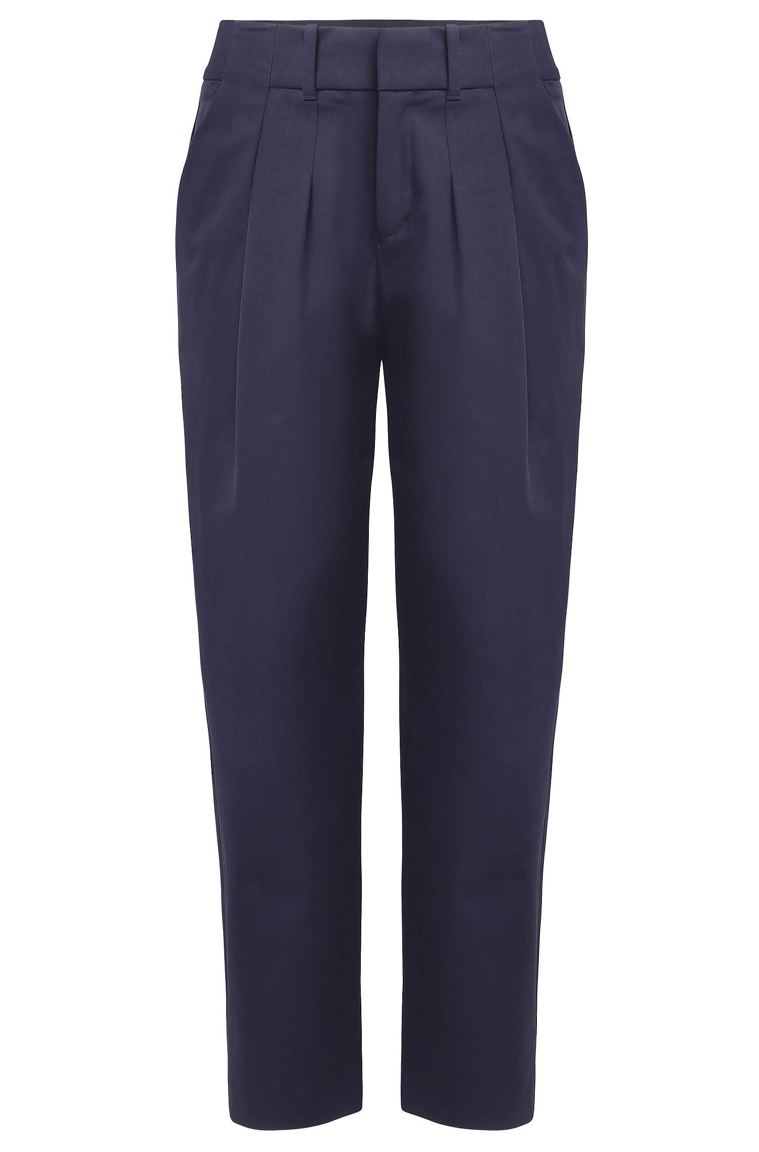 Relaxed-Fit Anzughose aus elastischer Baumwolle