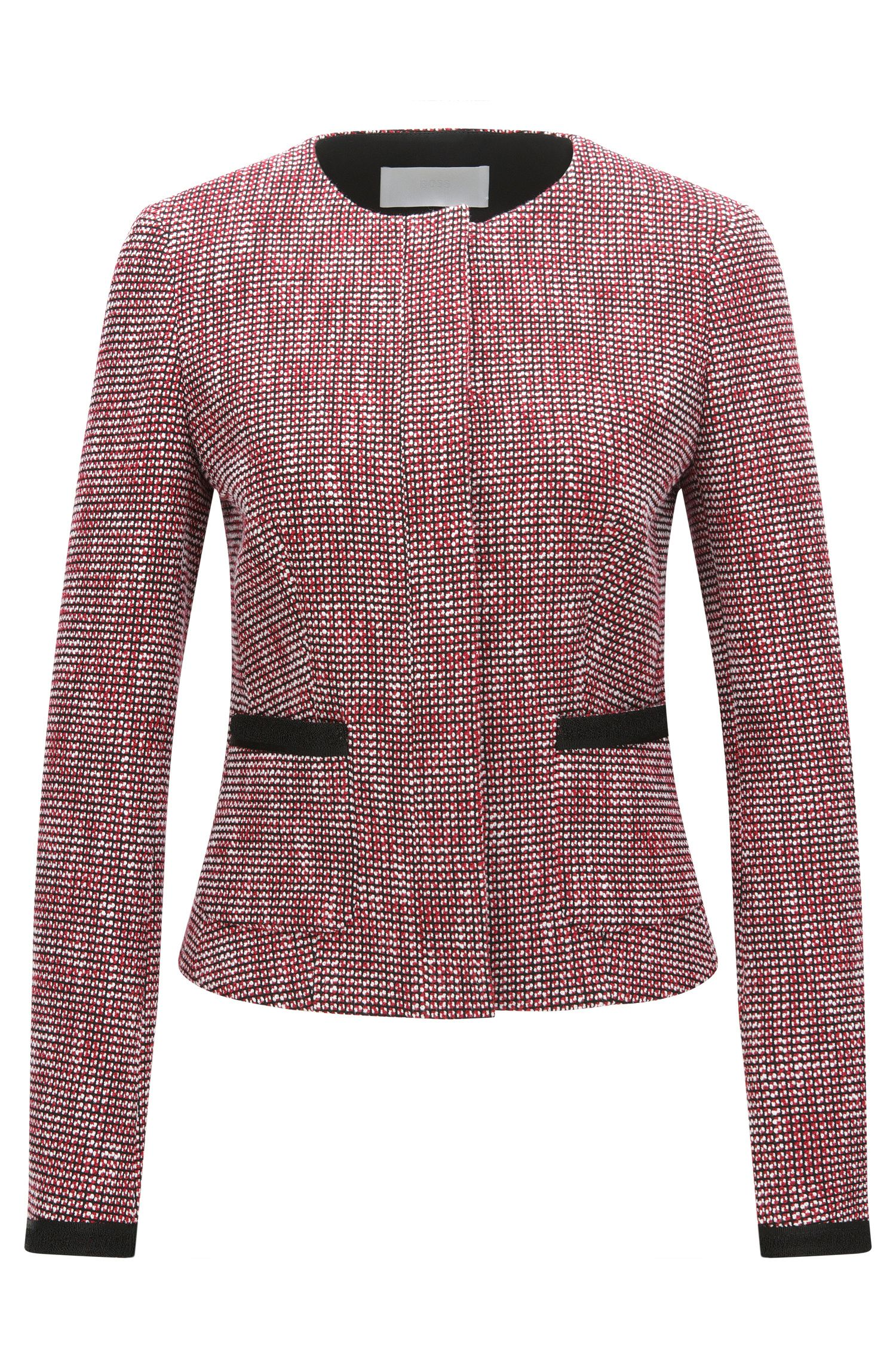 Regular-fit blazer in een meerkleurige jacquard