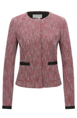 Regular-fit tailored jacket in multi-coloured jacquard, Patterned