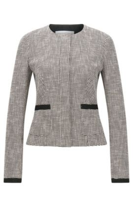 Regular-fit blazer in een meerkleurige jacquard, Bedrukt
