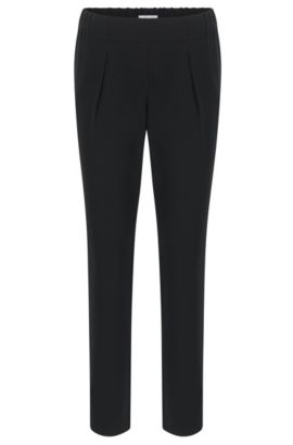 Relaxed-fit trousers with jogger styling, Black